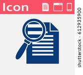 search in file icon. find in... | Shutterstock .eps vector #612935900