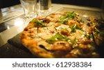 artisan pizza   stone baked   Shutterstock . vector #612938384