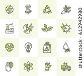 vector icon style logo set of... | Shutterstock .eps vector #612942980