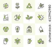 vector icon style logo set of... | Shutterstock .eps vector #612942980
