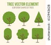 trees icon set   Shutterstock .eps vector #612943628