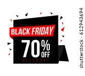 black friday sale banner | Shutterstock .eps vector #612943694