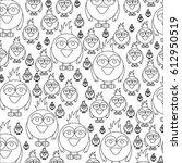monochrome pattern of... | Shutterstock .eps vector #612950519