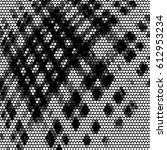 abstract grunge grid polka dot... | Shutterstock . vector #612953234