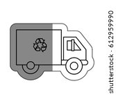 recycle truck isolated icon | Shutterstock .eps vector #612959990