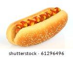 Hot Dog Against White...