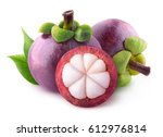 Isolated Mangosteens. Two Whol...
