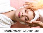 people  beauty  spa  healthy... | Shutterstock . vector #612984230