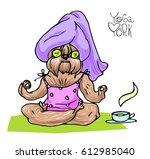 vector cartoon illustration... | Shutterstock .eps vector #612985040