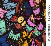 butterfly wings in colorful...