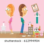 incompatible roommates clean... | Shutterstock .eps vector #612994904