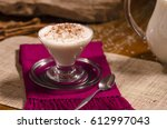 rice pudding in a glass cup.... | Shutterstock . vector #612997043
