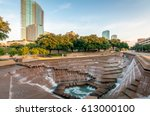 fort worth  texas water gardens.... | Shutterstock . vector #613000100