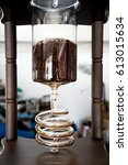 cold drip in process | Shutterstock . vector #613015634