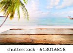 top of wood table on blurred... | Shutterstock . vector #613016858