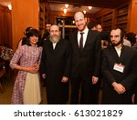 Small photo of NEW YORK CITY - MARCH 29 2017: Rachel Freier judge in Brooklyn's 5th District, & the first Hasidic woman to win elective office in the US, was honored at Brooklyn Law.Freiers with NYCC David Greenberg