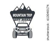 off road car logo illustration  ... | Shutterstock .eps vector #613040174