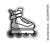 rollers and ice skates sport | Shutterstock .eps vector #613049534
