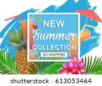 new summer collection sale... | Shutterstock .eps vector #613053464