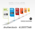 vector infographic company... | Shutterstock .eps vector #613057568