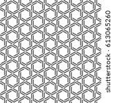 vector seamless pattern. modern ... | Shutterstock .eps vector #613065260