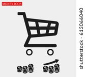 shopping chart icon  vector... | Shutterstock .eps vector #613066040