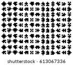 puzzle pattern vector... | Shutterstock .eps vector #613067336
