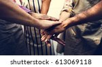 community support together... | Shutterstock . vector #613069118