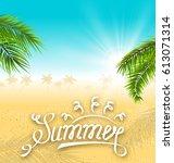 illustration tropical nature...   Shutterstock .eps vector #613071314