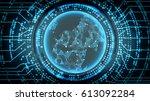 future technology cyber concept ...   Shutterstock . vector #613092284