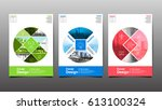 poster   flyer template  circle ... | Shutterstock .eps vector #613100324