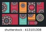 mandala vintage greeting... | Shutterstock .eps vector #613101308