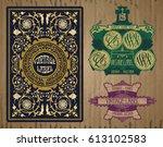 vector vintage items  label art ... | Shutterstock .eps vector #613102583