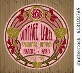 vector vintage items  label art ...   Shutterstock .eps vector #613102769