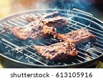 american barbecue   preparing... | Shutterstock . vector #613105916