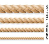 realistic rope. different...   Shutterstock . vector #613112228