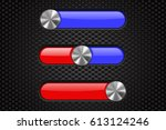 interface slider bar. red and...