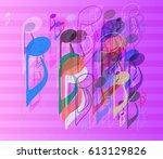 music art vector   Shutterstock .eps vector #613129826