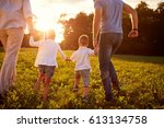 family together  parents with... | Shutterstock . vector #613134758