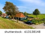 rural farm house landscape | Shutterstock . vector #613138148
