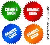 coming soon stickers set   Shutterstock . vector #61313854