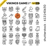 fancy vikings game concept... | Shutterstock .eps vector #613140650