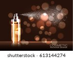 cosmetic product  spray bottle  ... | Shutterstock .eps vector #613144274