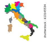 map countries italy | Shutterstock .eps vector #613145534