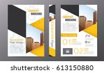 business brochure or flyer... | Shutterstock .eps vector #613150880