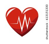 cardio heart icon | Shutterstock .eps vector #613151330