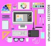 flat design style modern vector ...   Shutterstock .eps vector #613155008