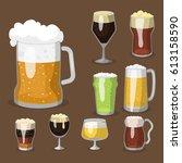 alcohol beer vector... | Shutterstock .eps vector #613158590