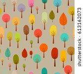 seamless autumn pattern | Shutterstock .eps vector #613162073
