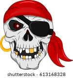 pirate skull mascot | Shutterstock . vector #613168328